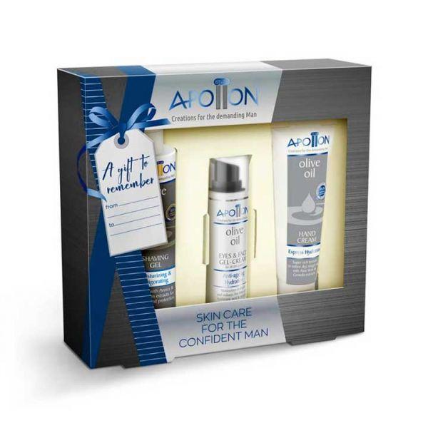 Face Cream Apollon Men Face & Hand Care Gift Set – Full Size