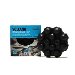 Massage Soap Santo Volcano Spa Massage Black Soap with Volcanic Lava