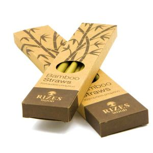 Αντικείμενα από Ξύλο Ελιάς Μπαμπού Καλαμάκια – Κουτί με 6 Τμχ – The Olive Tree