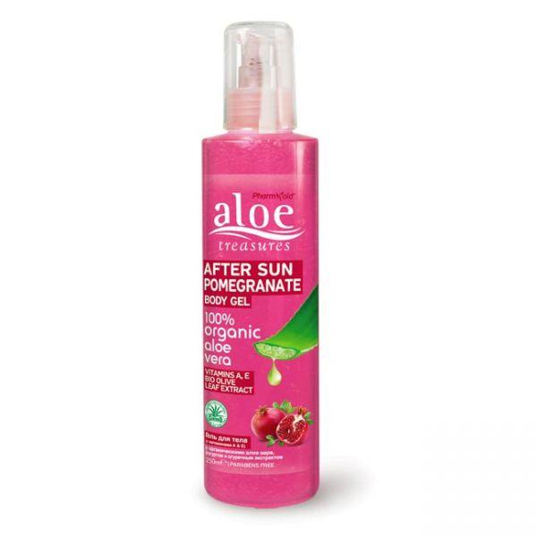 After Sun Care Aloe Treasures After Sun Body Gel Pomegranate