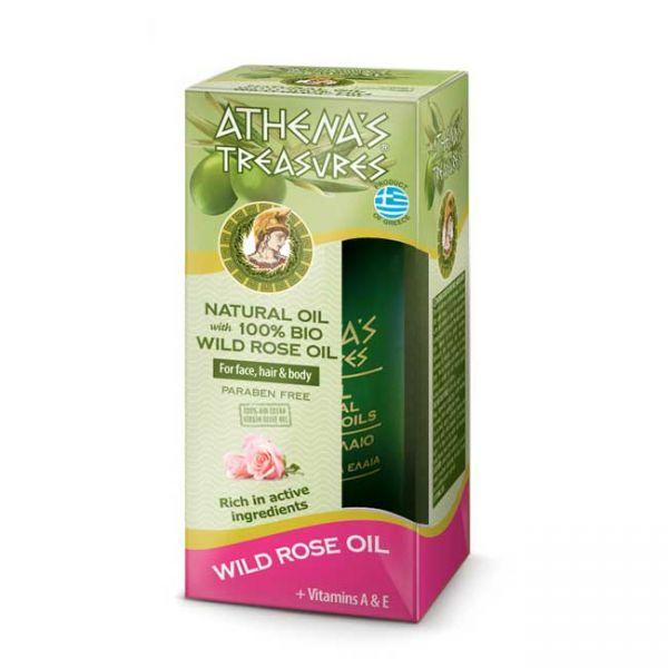 Λάδι Μαλλιών Athena's Treasures Φυσικό Έλαιο Άγριου Τραντάφυλλου