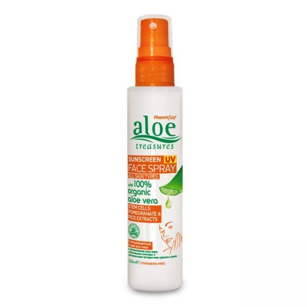 Face Care Aloe Treasures Sunscreen UV Face Spray