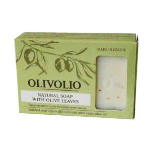 Νέες Αφίξεις Olivolio Φυσικό Σαπούνι Ελαιολάδου με Φύλλα Ελιάς