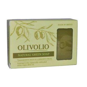 Νέες Αφίξεις Olivolio Φυσικό Πράσινο Σαπούνι Ελαιολάδου