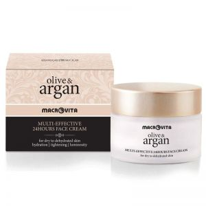Anti-Wrinkle Cream Macrovita Olive & Argan Multi-effective 24hours Face Cream Dry to Dehydrated Skin