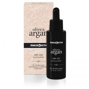 Face Care Macrovita Olive & Argan Face & Neck Dry Oil