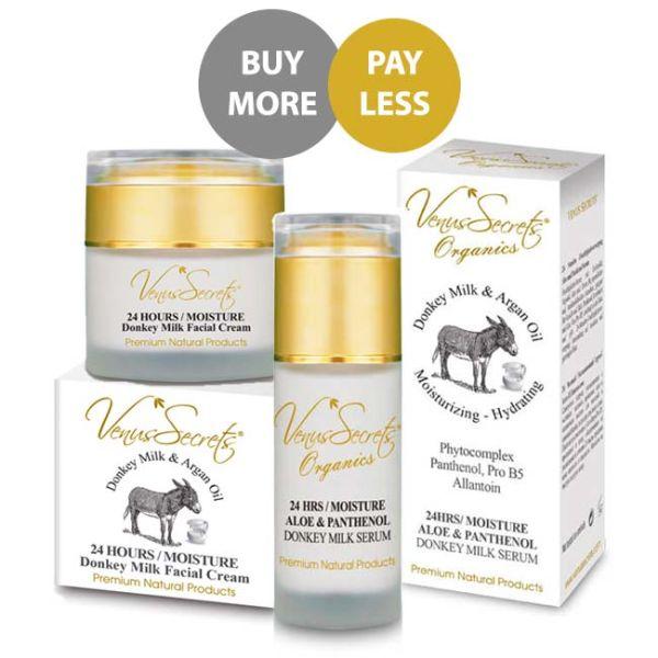 Face Care Venus Secrets Donkey Milk 24 Hours Face Moisture Set