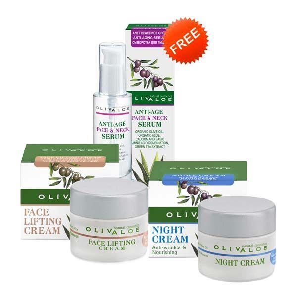 Face Care Olivaloe Face Lifting Cream & Night Cream, FREE Face Serum