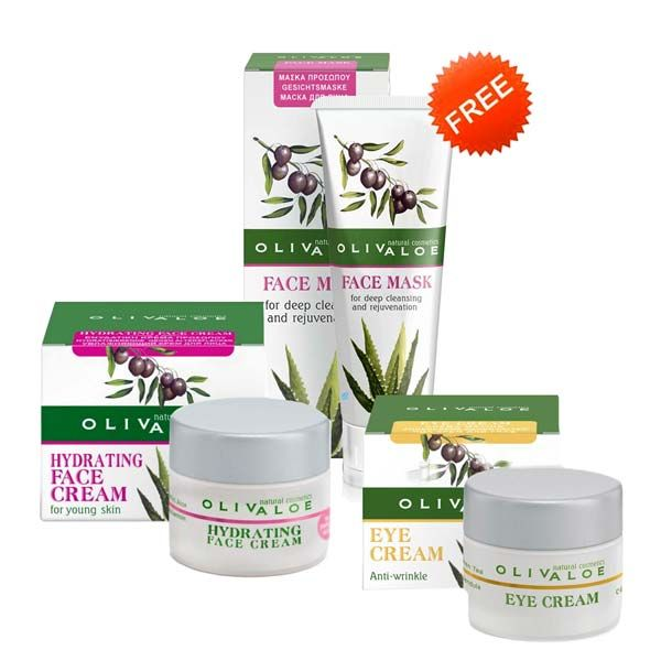 Eye Care Olivaloe Young Skin Face Cream & Eye Cream, FREE Cleansing Mask