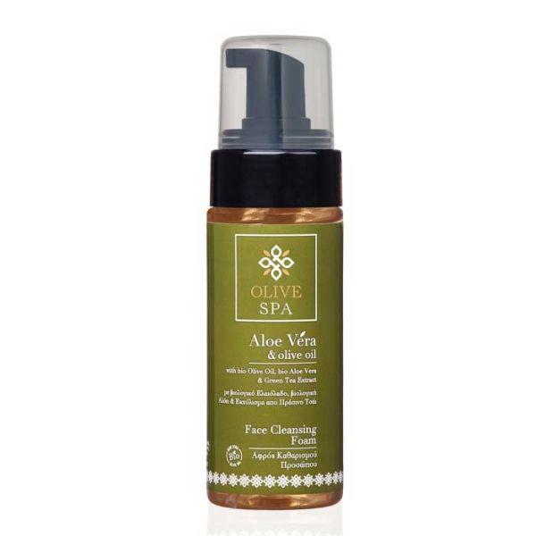 Καθαρισμός Προσώπου Olive Spa Aloe Vera Αφρός Καθαρισμού Προσώπου