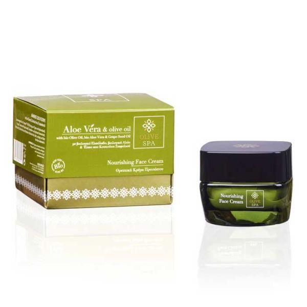 Ενυδατική Olive Spa Aloe Vera Θρεπτική Κρέμα Προσώπου