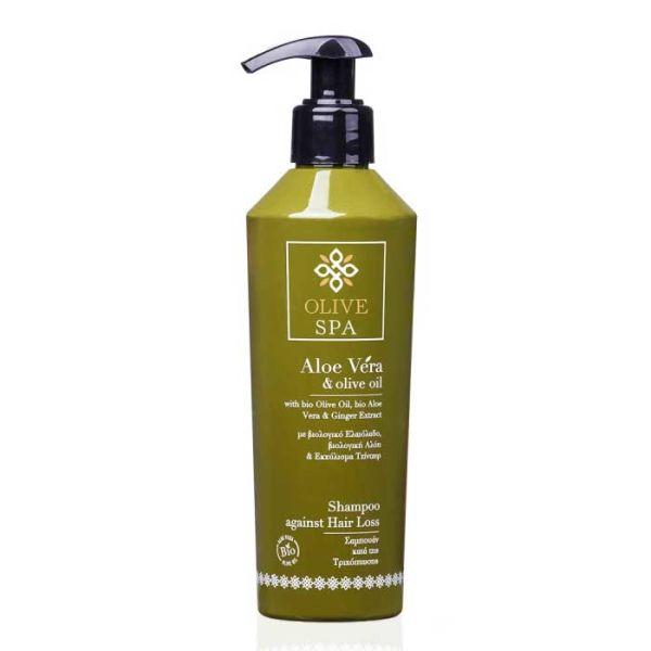 Νέες Αφίξεις Olive Spa Aloe Vera Σαμπουάν Κατά της Τριχόπτωσης